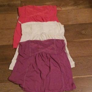 Cotton stretch camisole no strap tops